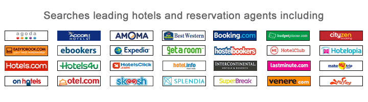 Compare room rates from leading hotel websites
